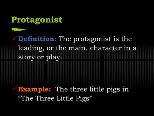 small resolution of  three little pigs protagonist definition the protagonist is the leading or the main character in a