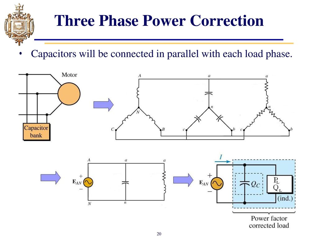 hight resolution of three phase power correction