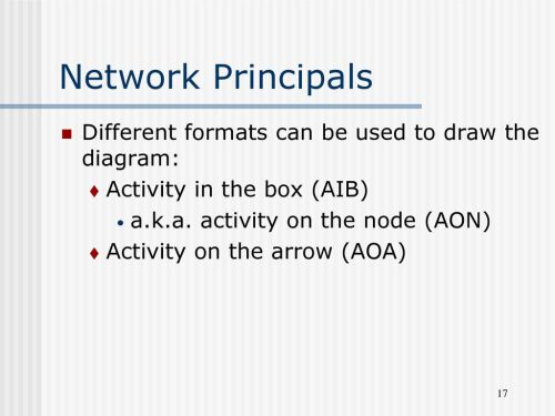 small resolution of network principals different formats can be used to draw the diagram