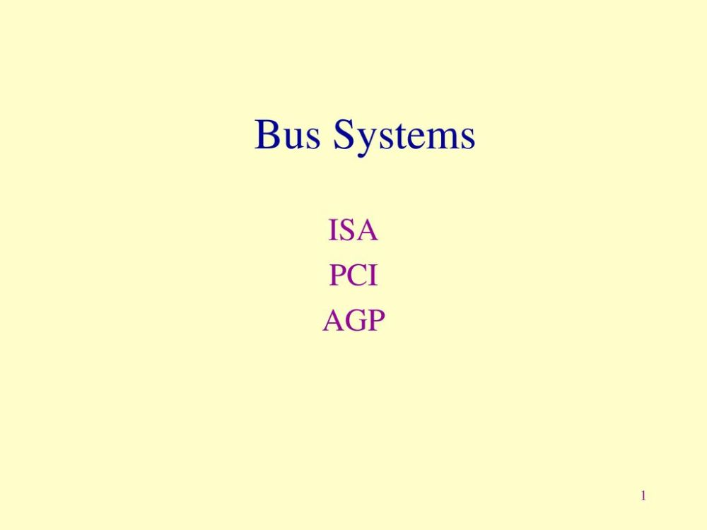 medium resolution of 1 bus systems isa pci agp