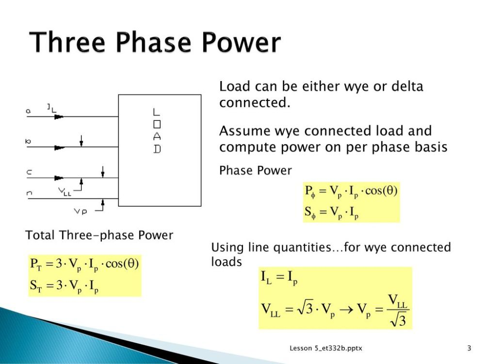 medium resolution of 3 three phase power load can