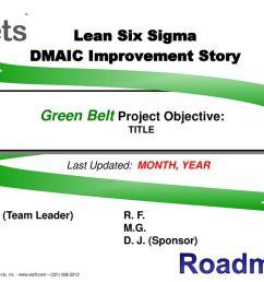 lean six sigma dmaic improvement story [ 1024 x 768 Pixel ]