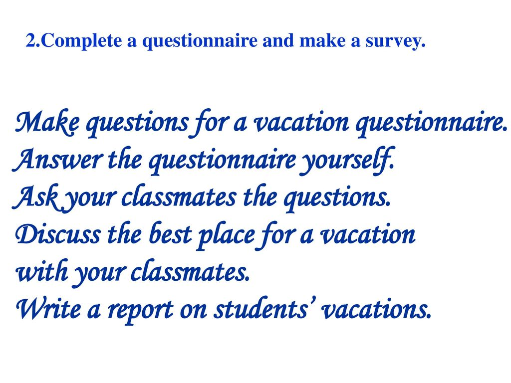 Unit 10 Where Did You Go On Vacation Ppt Download