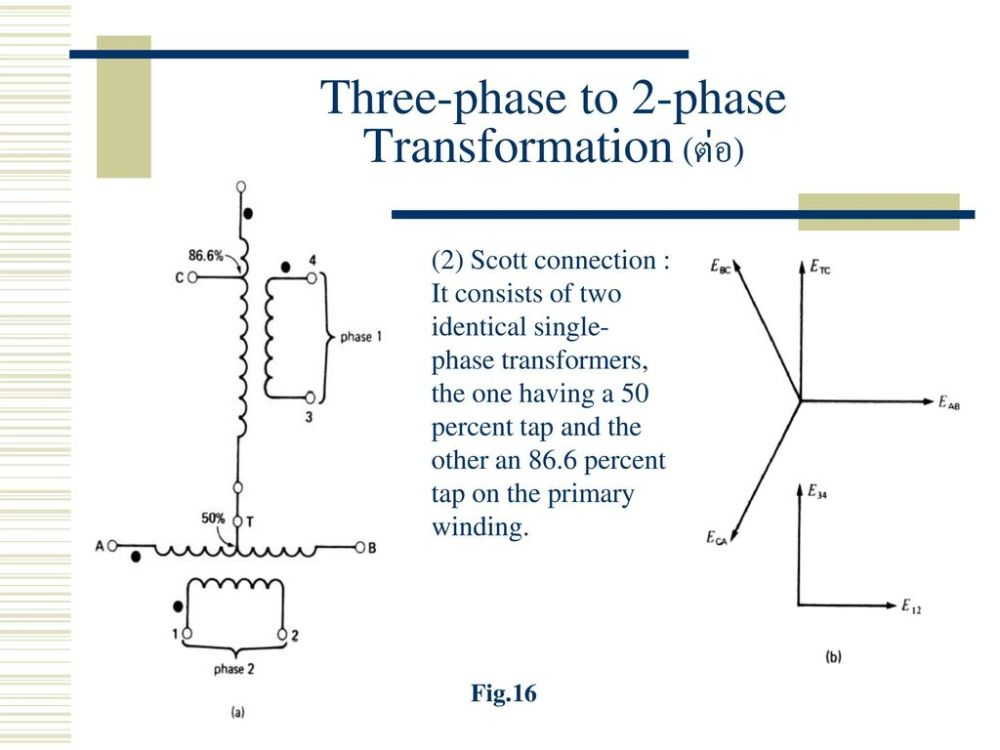 medium resolution of three phase to 2 phase transformation