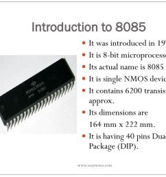 introduction to 8085 it was introduced in 1976 [ 1024 x 768 Pixel ]
