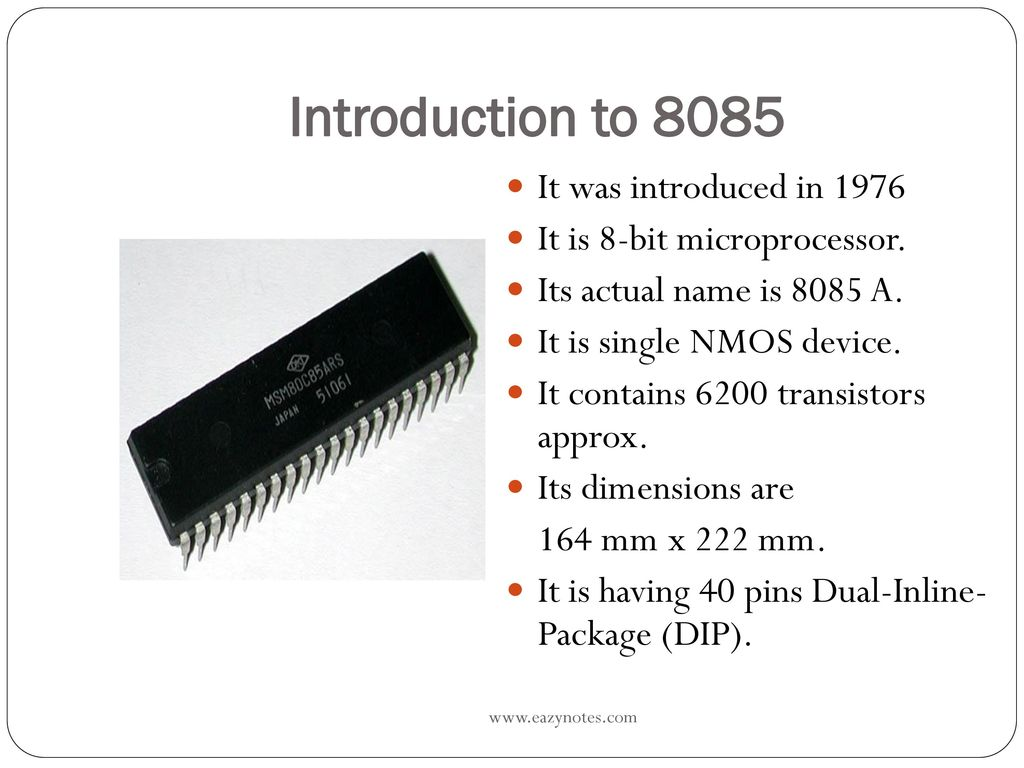 hight resolution of introduction to 8085 it was introduced in 1976