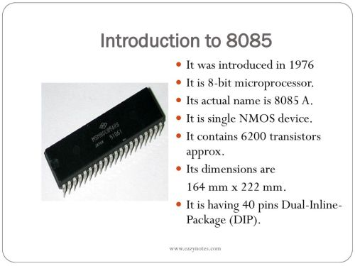 small resolution of introduction to 8085 it was introduced in 1976
