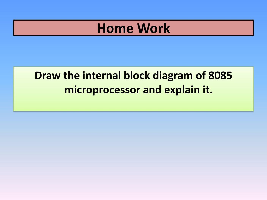 hight resolution of draw the internal block diagram of 8085 microprocessor and explain it