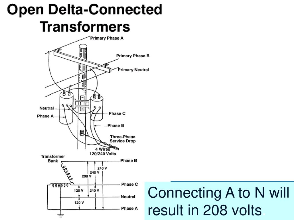 hight resolution of 42 connecting a to n will result in 208 volts