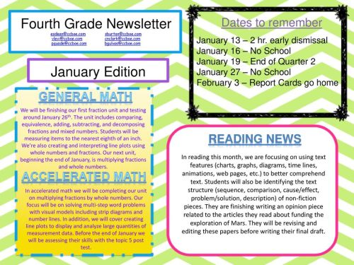 small resolution of fourth grade newsletter