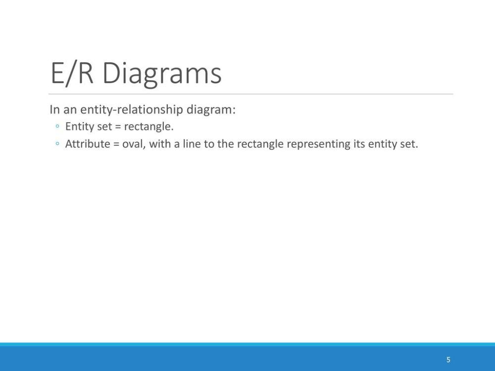 medium resolution of e r diagrams in an entity relationship diagram