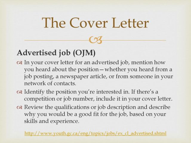 Writing the Perfect Cover letter - ppt download