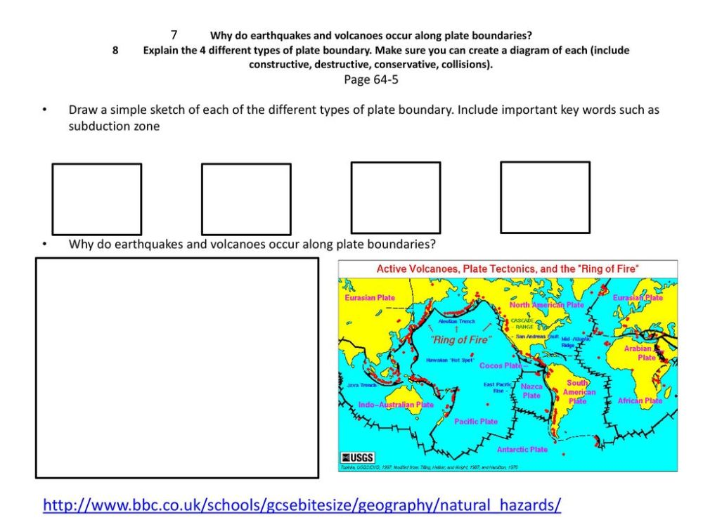 medium resolution of why do earthquakes and volcanoes occur along plate boundaries 8