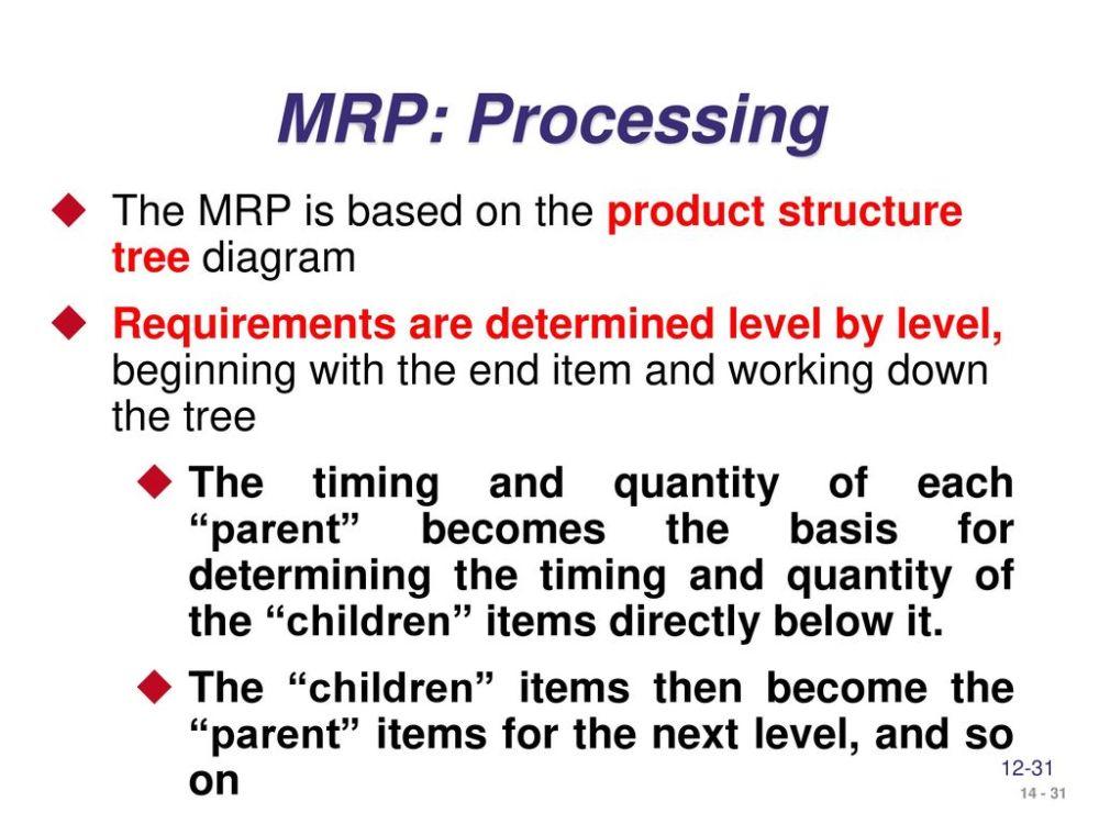 medium resolution of 31 mrp processing