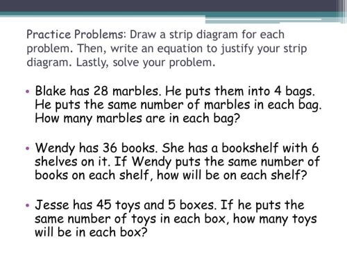 small resolution of practice problems draw a strip diagram for each problem