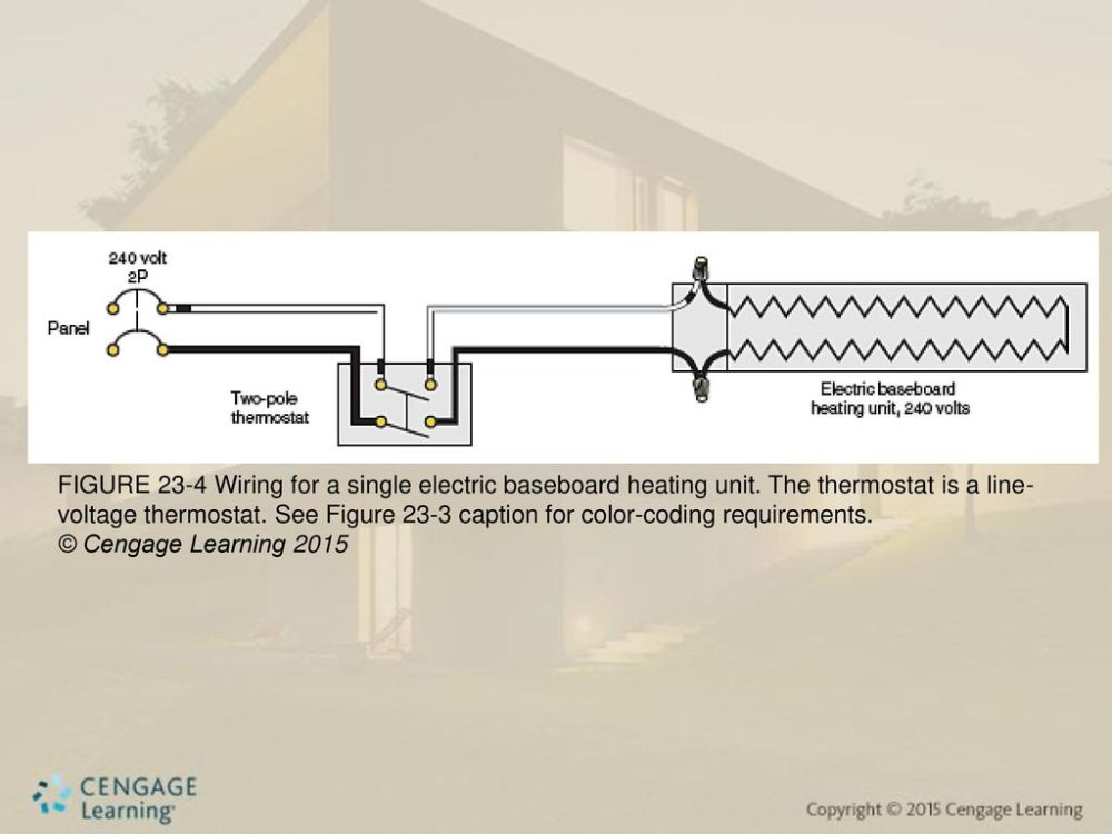medium resolution of figure 23 4 wiring for a single electric baseboard heating unit