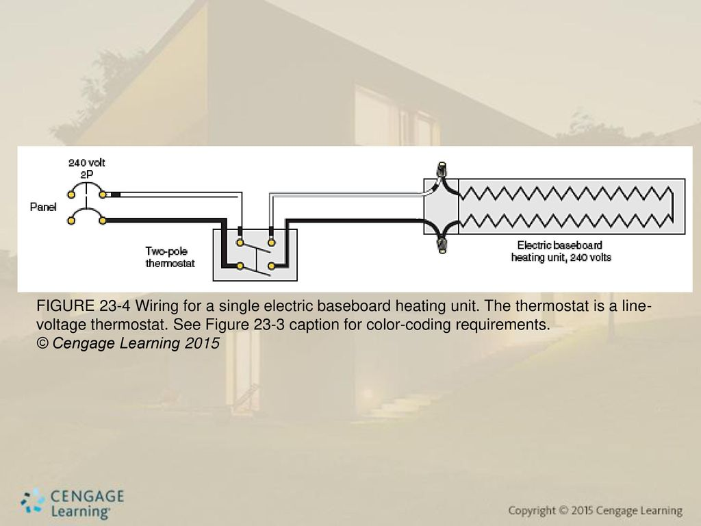hight resolution of figure 23 4 wiring for a single electric baseboard heating unit