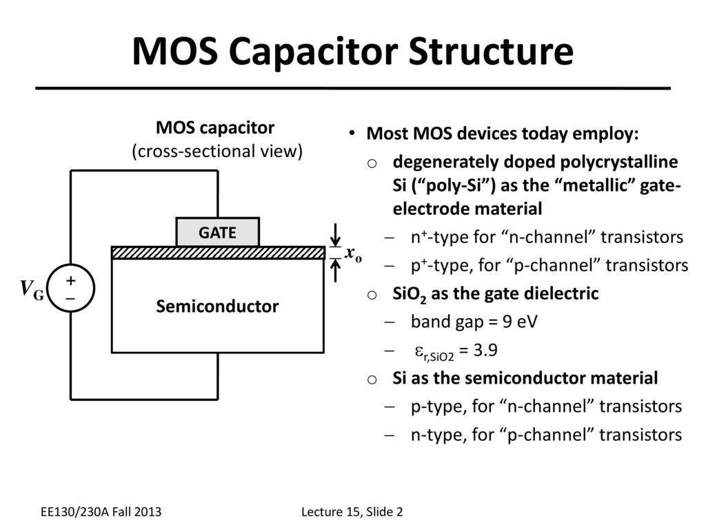 hight resolution of mos capacitor structure
