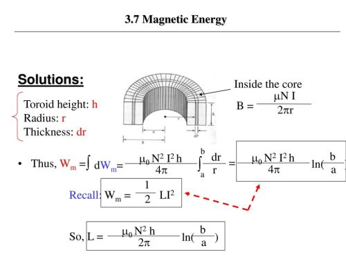 small resolution of dwm solutions 3 7 magnetic energy thus wm inside the core