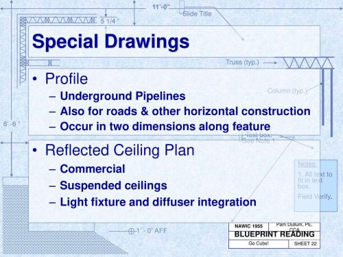 small resolution of special drawings profile reflected ceiling plan underground pipelines