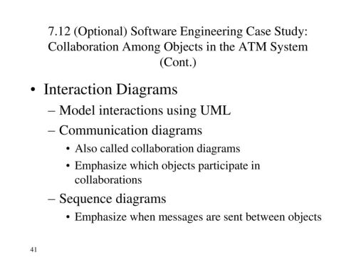 small resolution of interaction diagrams model interactions using uml