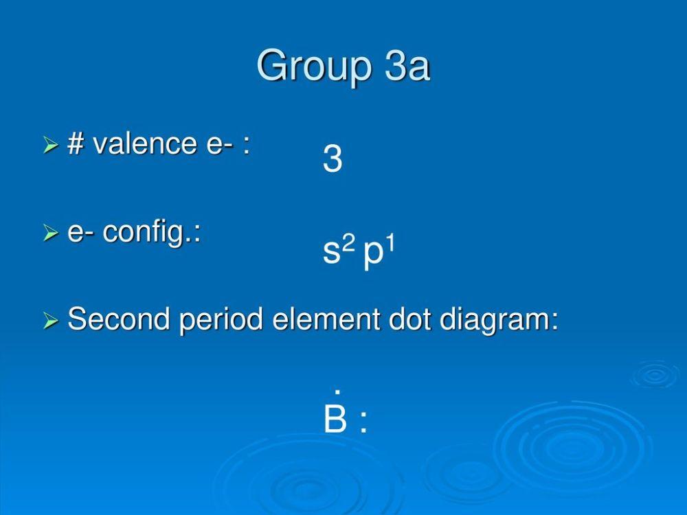 medium resolution of group 3a 3 s2 p1 b valence e e config