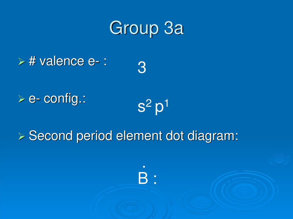 hight resolution of group 3a 3 s2 p1 b valence e e config