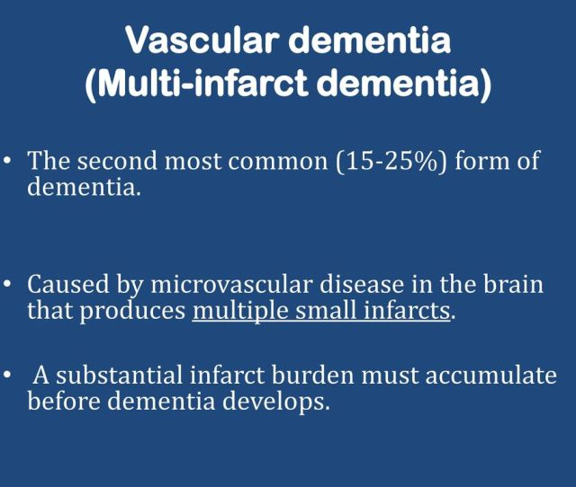 Vascular Dementia Multi Infarct Dementia