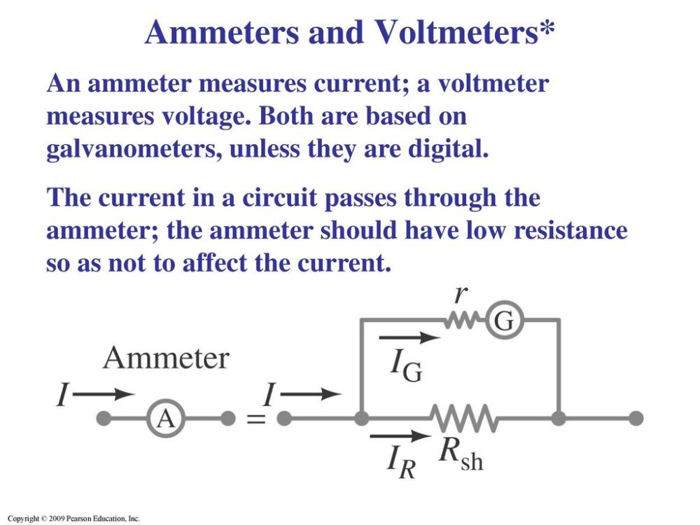 medium resolution of ammeters and voltmeters