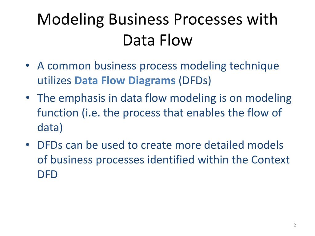 hight resolution of modeling business processes with data flow
