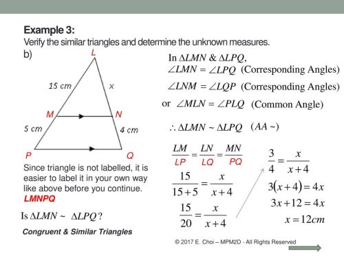 small resolution of Grade 10 Academic (MPM2D) Unit 5: Trigonometry Congruent \u0026 Similar triangles  Mr. Choi © 2017 E. Choi – MPM2D - All Rights Reserved. - ppt download
