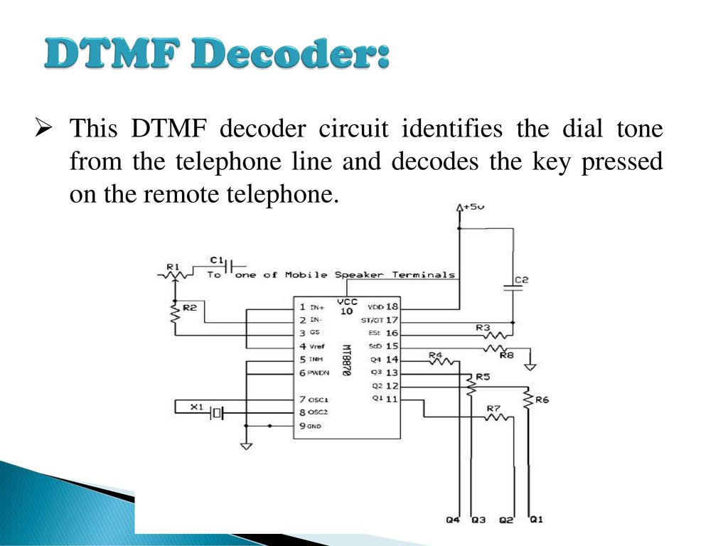 hight resolution of cell phone based dtmf controlled garage door opening system ppt mt8870 dtmf telephone dial tone decoder circuit diagram nonstopfree