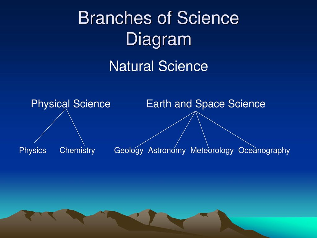 hight resolution of branches of science diagram