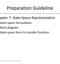 22 preparation guideline chapter 7 state space representation state space formulation block diagram  [ 1024 x 768 Pixel ]