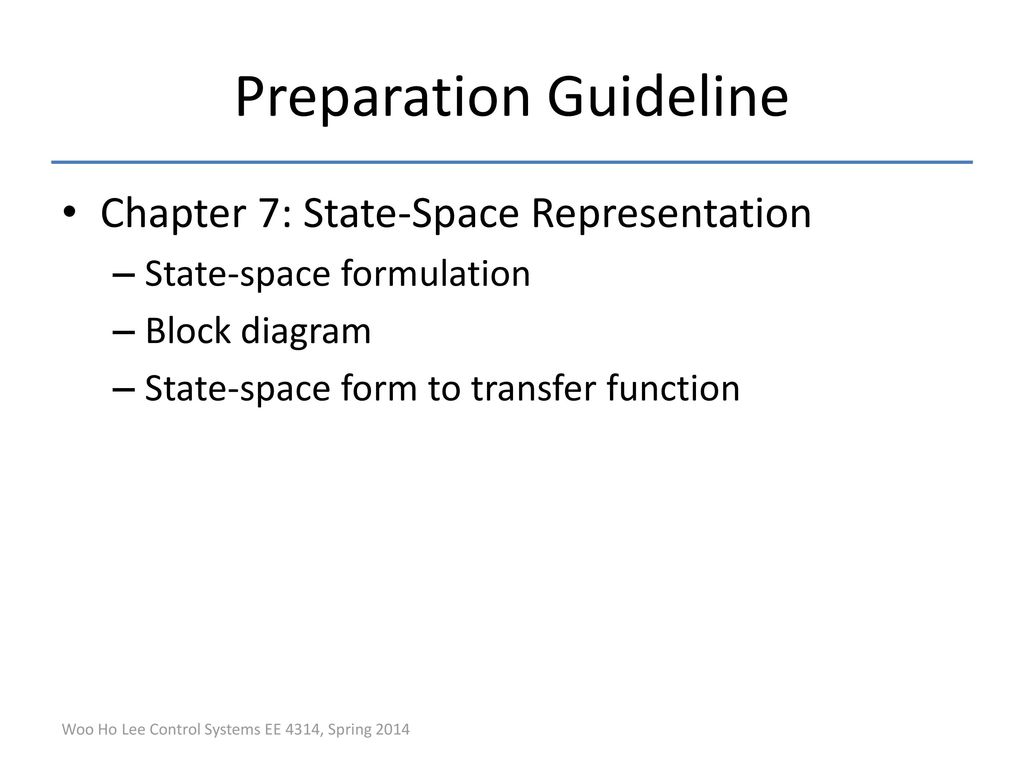 hight resolution of 22 preparation guideline chapter 7 state space representation state space formulation block diagram