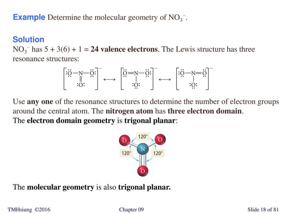 medium resolution of example determine the molecular geometry of no3