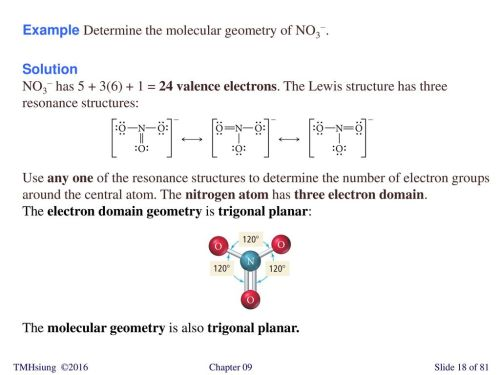 small resolution of example determine the molecular geometry of no3