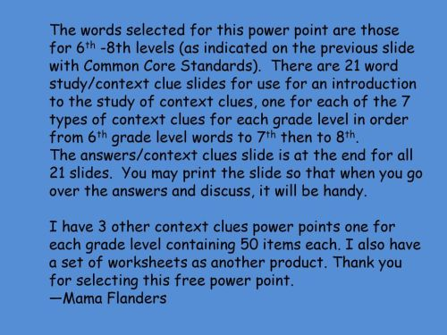 small resolution of PRACTICE WITH CONTEXT CLUES! - ppt download