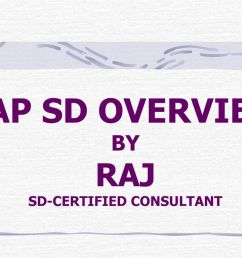 sap sd overview by raj sd certified consultant [ 1024 x 768 Pixel ]
