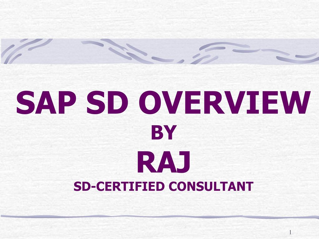 hight resolution of sap sd overview by raj sd certified consultant