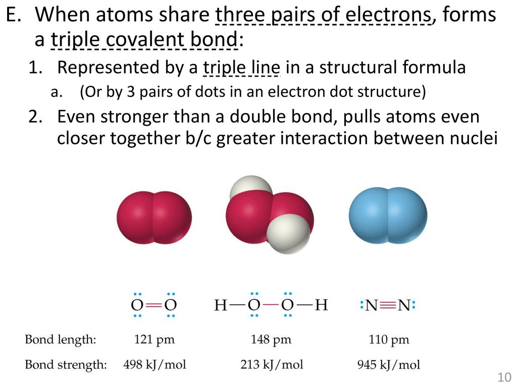 double bond electron dot diagram club car tail light wiring unit 3 covalent bonds and intermolecular forces ppt
