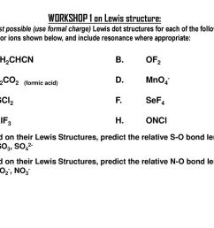 workshop 1 on lewis structure  [ 1024 x 768 Pixel ]