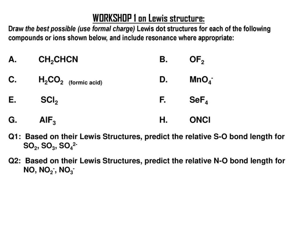 medium resolution of workshop 1 on lewis structure