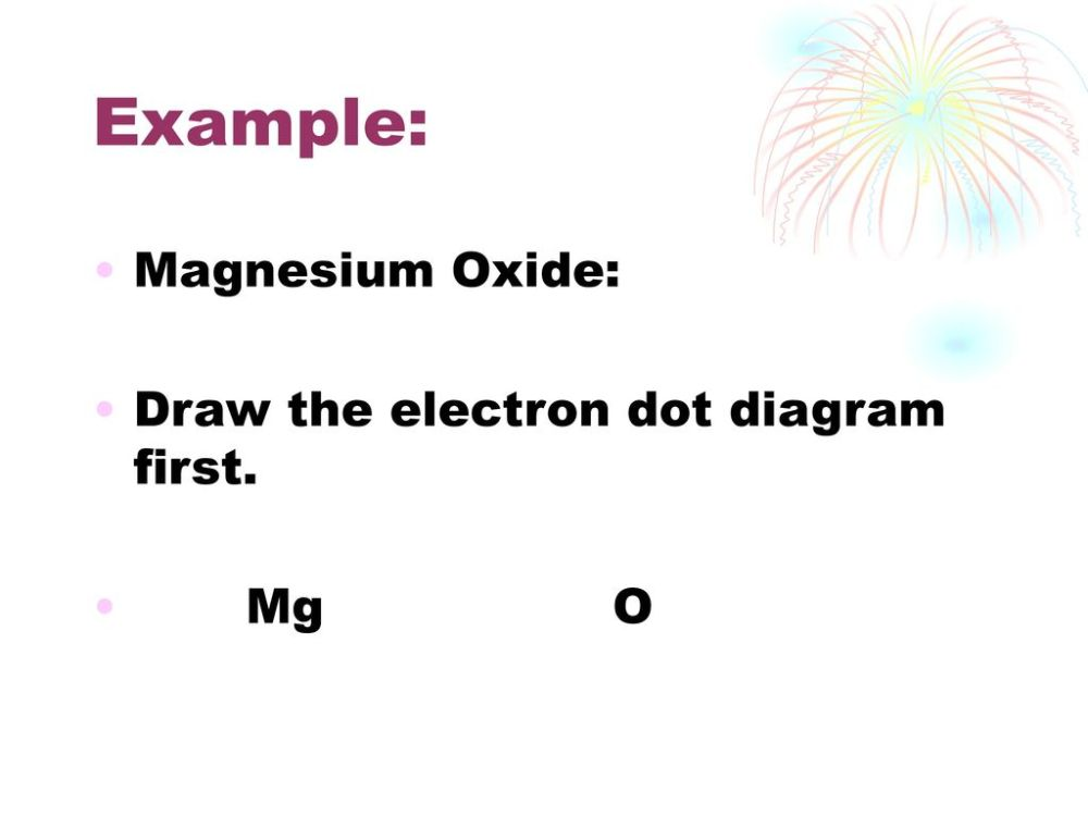 medium resolution of 10 example magnesium oxide draw the electron dot diagram first mg o