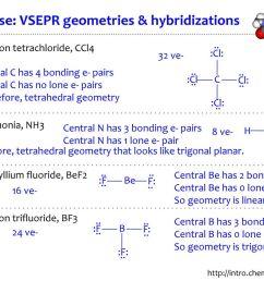 exercise vsepr geometries hybridizations [ 1024 x 768 Pixel ]