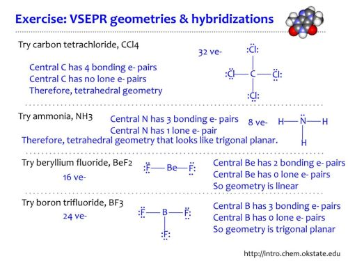 small resolution of exercise vsepr geometries hybridizations