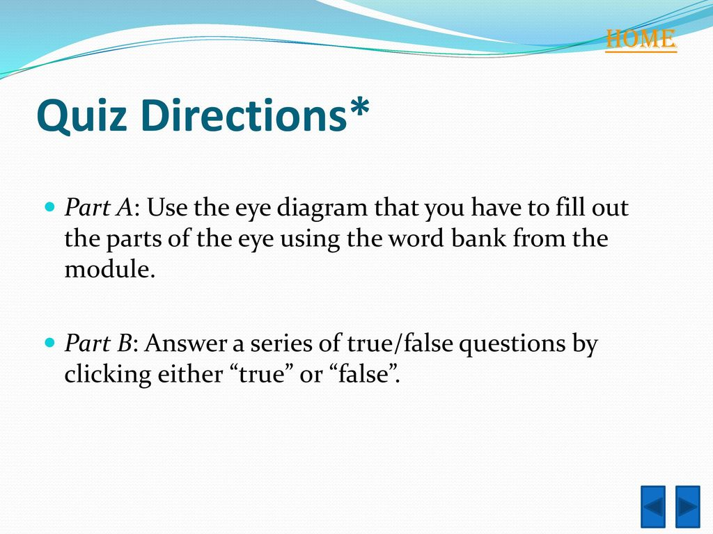 hight resolution of home quiz directions part a use the eye diagram that you have to fill