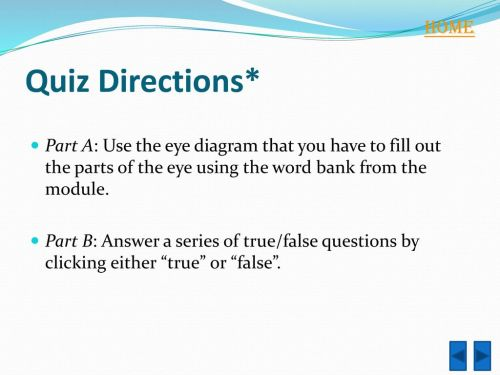small resolution of home quiz directions part a use the eye diagram that you have to fill
