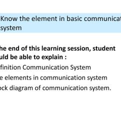 1 1 know the element in basic communication system [ 1024 x 768 Pixel ]