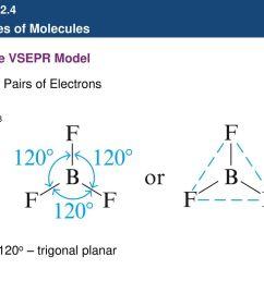 43 b the vsepr model three pairs of electrons bf3 120o trigonal planar [ 1024 x 768 Pixel ]